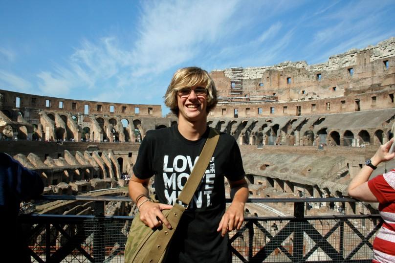 Alex in  the Colosseum