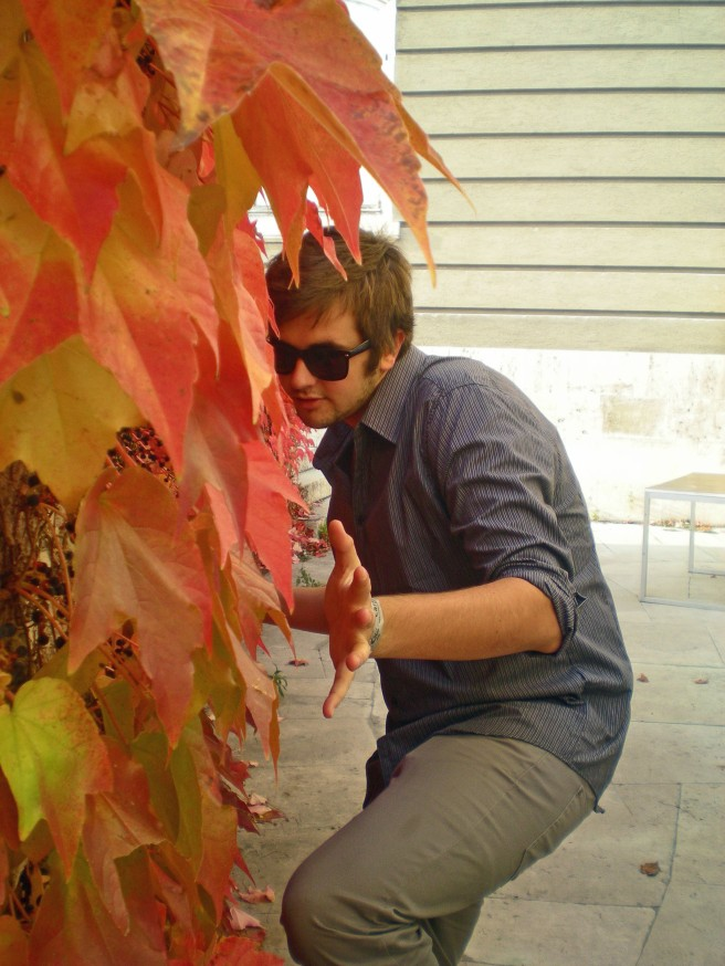 Alex in the trees in Budapest