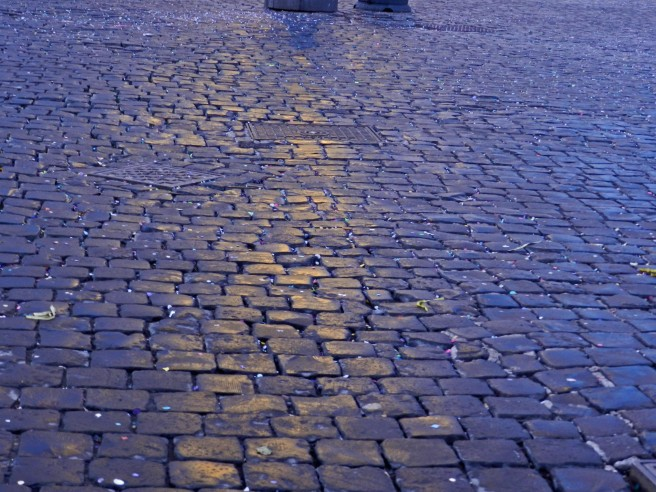 Cobble stones of rome