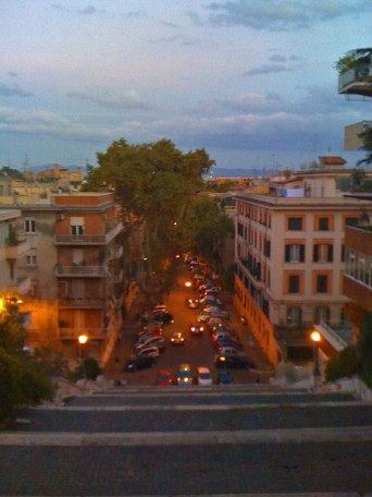 Stairs down to Trastevere