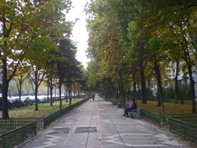 Walking down the streets in Bucharest