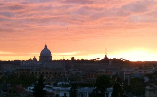 Sunset over Vatican