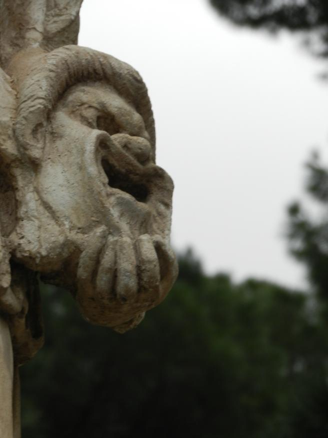 Mask in Villa Borghese
