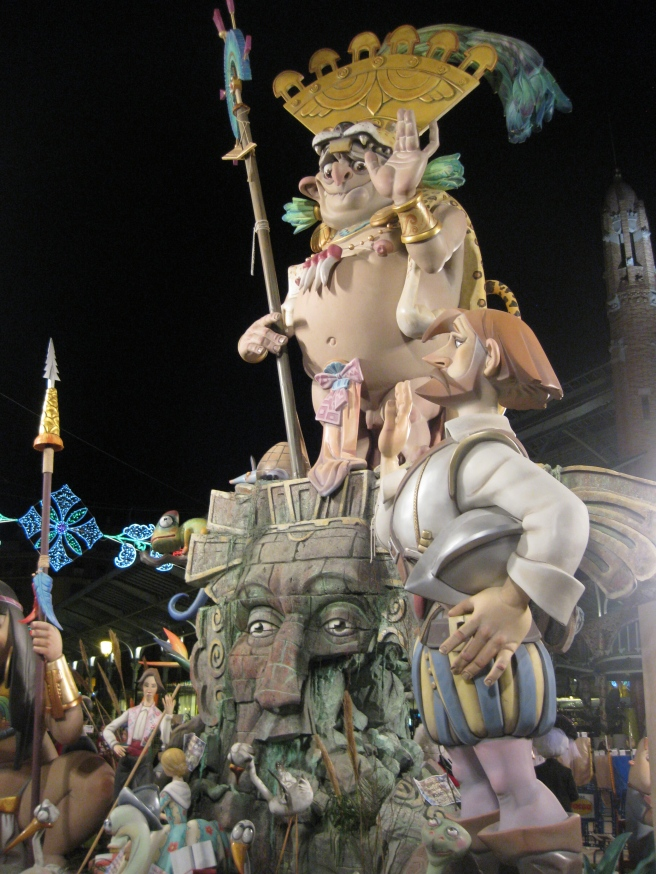 The Aztecs at Las Fallas