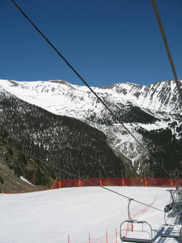 Day skiing in Andorra