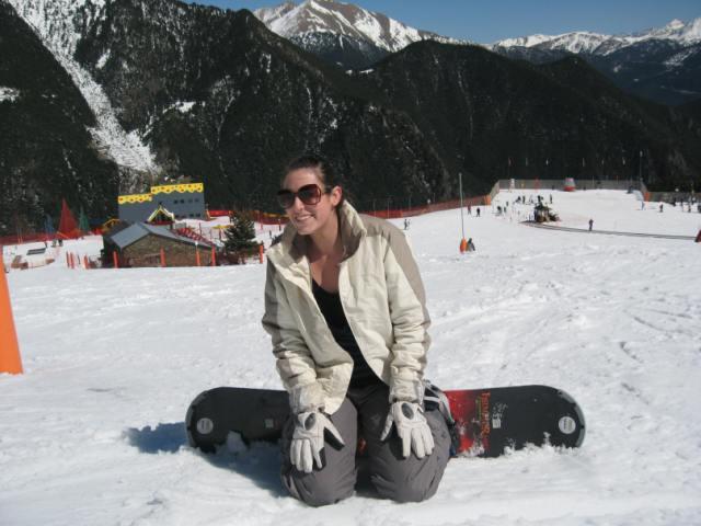 Me failing at snowboarding