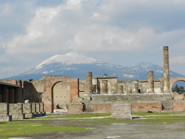 Mt. Vesuivius from the Forum of Pompeii