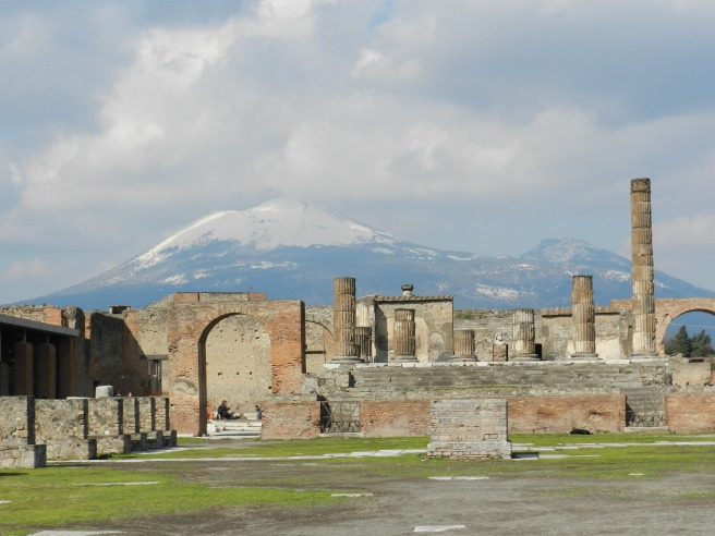 Mt. Vesuivius from the Forum of Pompeii