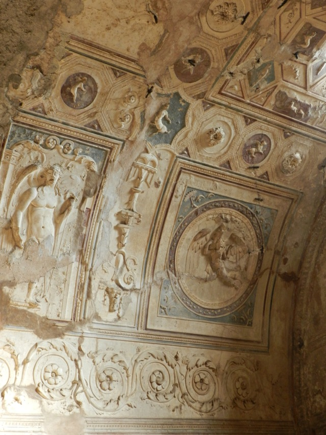 The only ceiling left in Pompeii