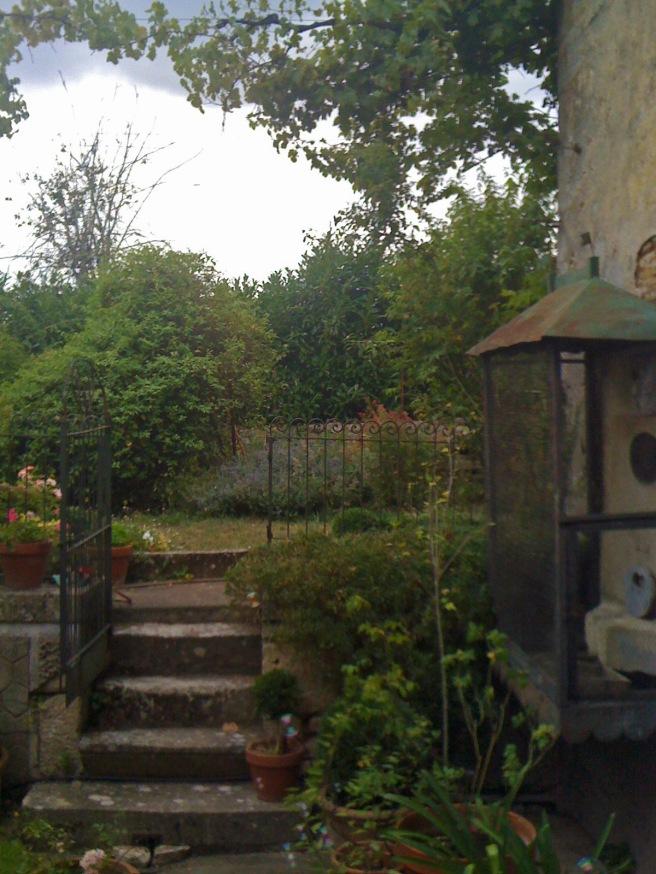 The backyard of the 17th century farmhouse