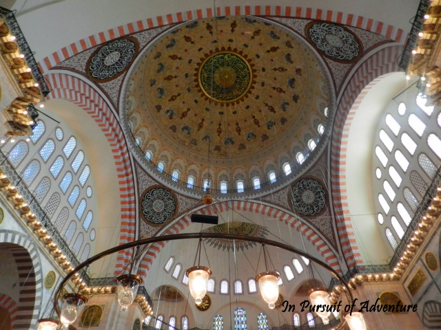 Domes of Suleymaniye Mosque, it is the largest mosque in the city and was built in part to surpass the Hagia Sophia