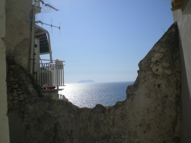 The view of the sea from the top of Sperlonga