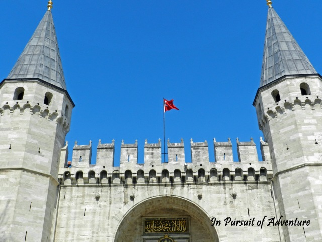 Entrance to Topkapi Palace-the Turkish Palace situated along the ancient Theodosian Walls