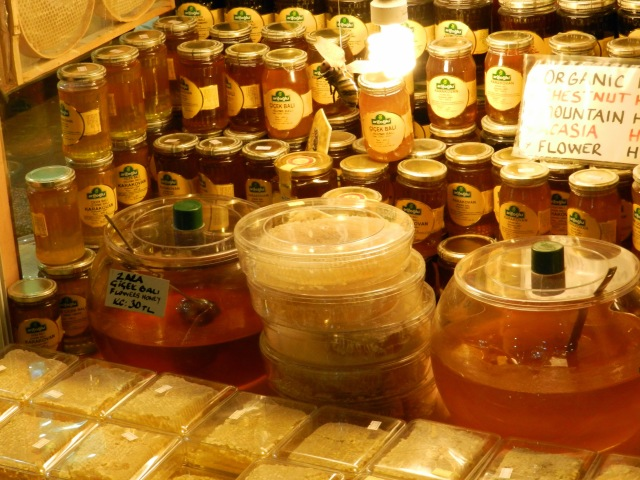 Local Honey at the Spice Bazaar
