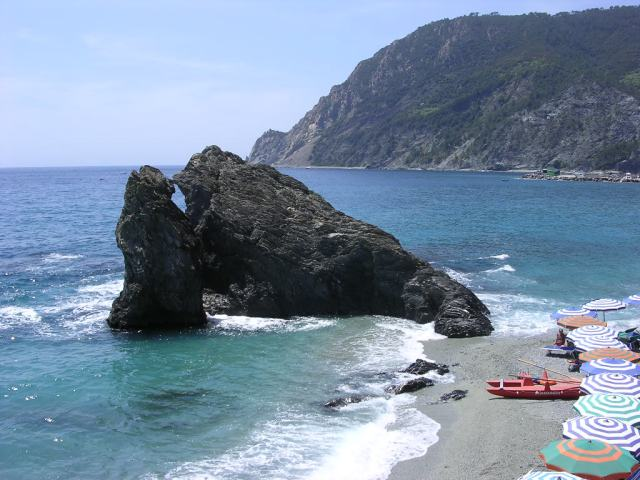 The Rock at Monterossa, one of the 5 towns in that make up the Cinque Terre