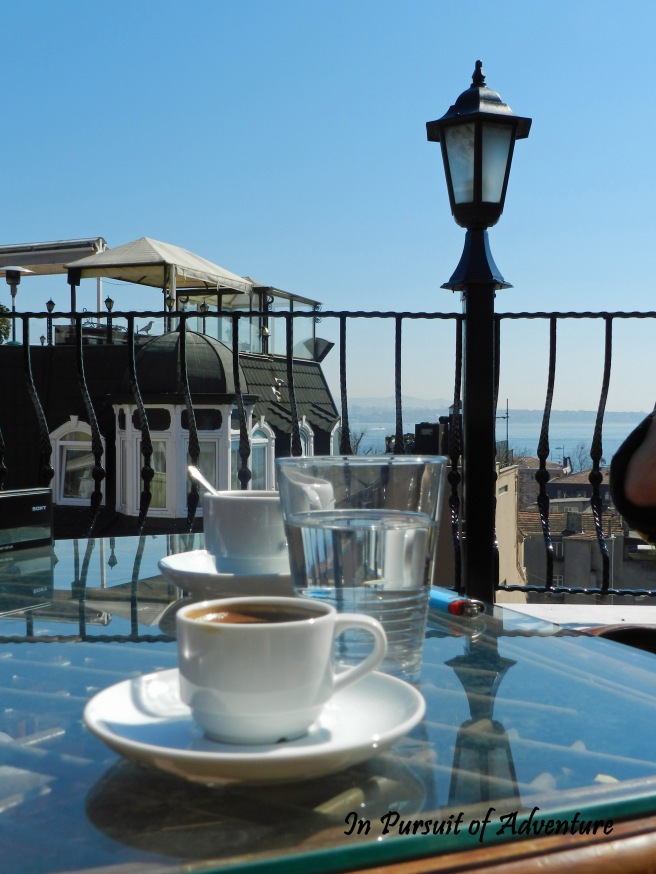 Don't forget to have a ridiculously strong Turkish coffee and definitely try to get a view of the Bosphorus to go along with it!