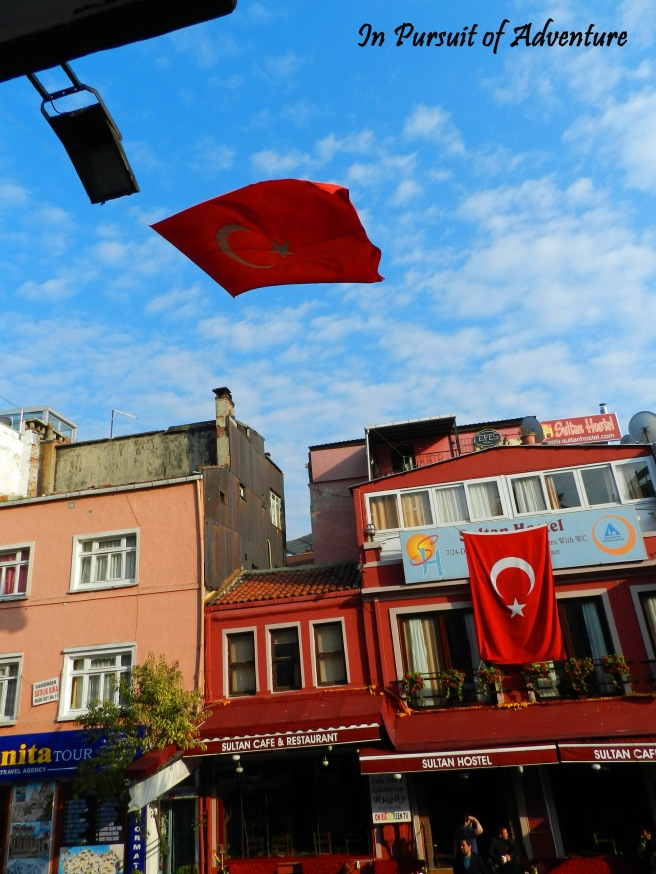 Streets of Sultanahmet, the old neighborhood of Istanbul, it is a lovely neighborhood and there is great food here as well