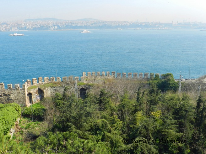 The Theodosian Walls-which withstood siege until the Turks blasted it apart with cannons in 1453