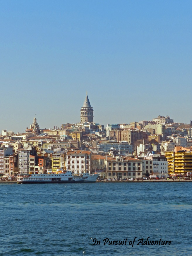 View of Taksim which is the nightlife heart of Istanbul