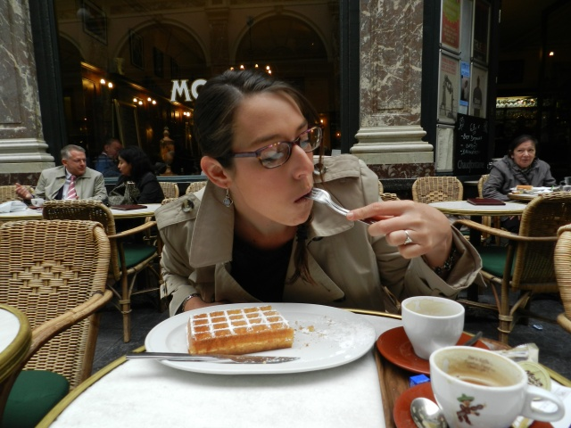 And then we ate some waffles