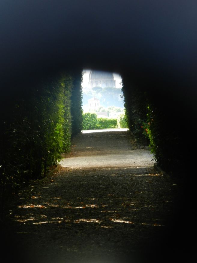 This was the best picture I could get through the Keyhole and you can see the Vatican perfectly framed