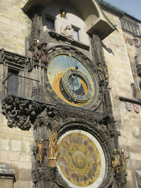 Its Absinthe time according to Prague's astronomical clock
