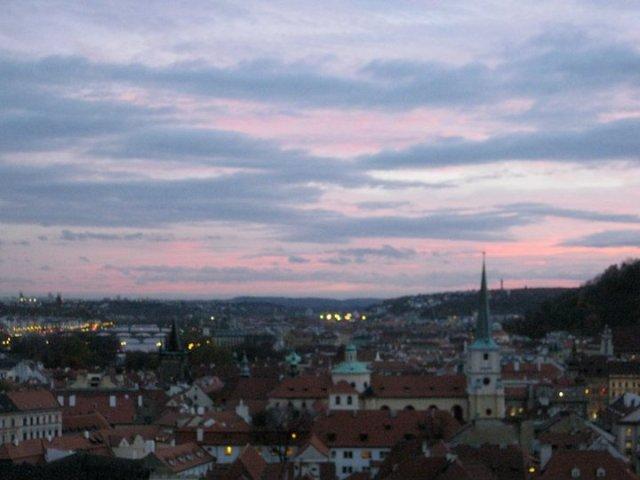 Sunset over Prague