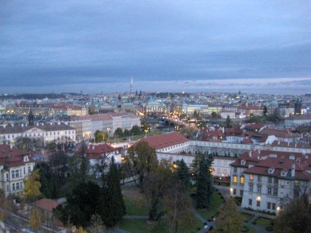 A Fall Evening Over Prague