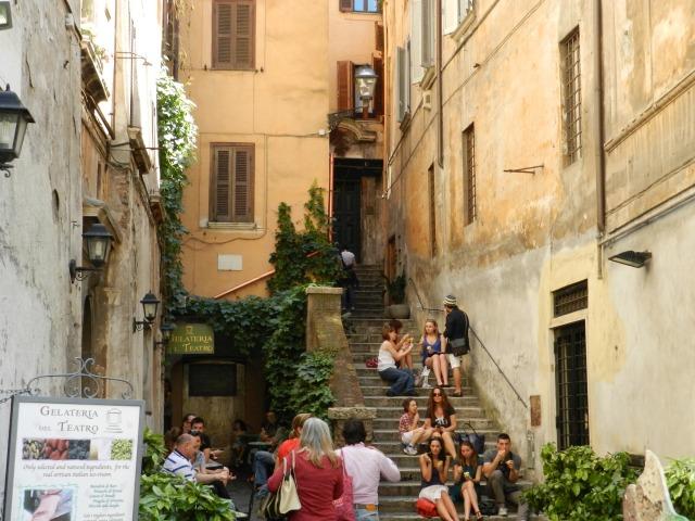 Stairs near Piazza Navona