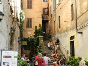 Stairs near Piazza Navona and Fluid 5 Reasons I Love Rome