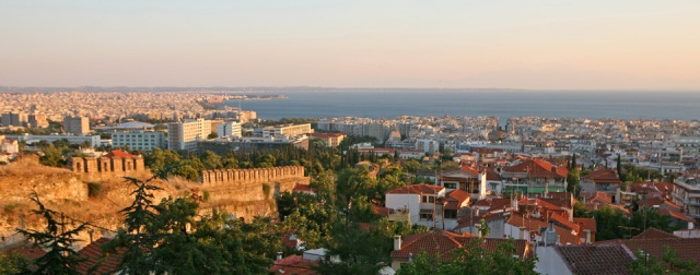 The view of Thessaloniki from Little Big House's neighborhood