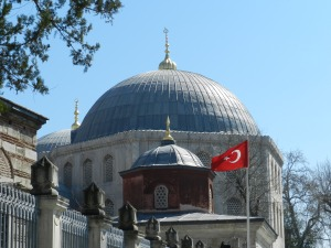 Hagia Sofia and the Flag A Glimpse of Istanbul