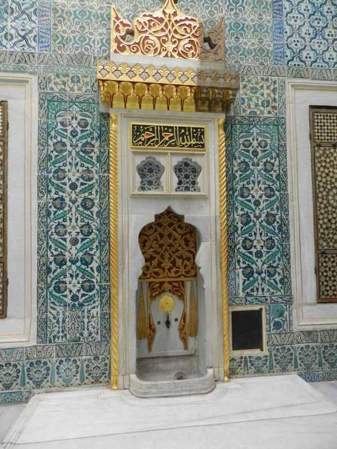 The Haram at Topkapi Palace, not quite the bath house but they still washed their feet here