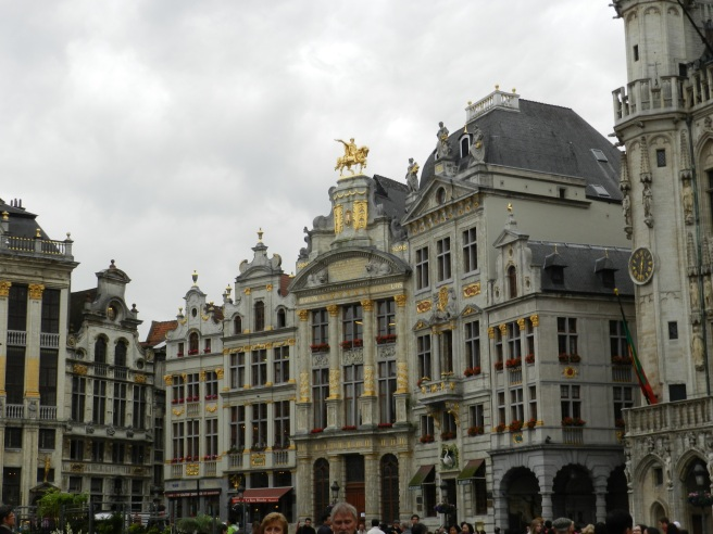 The medieval Grand Place n the heart of Brussels