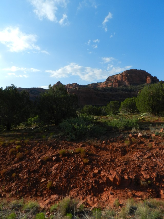 Sun setting over the Red Rocks in Sedona