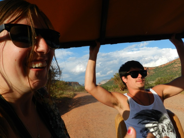 Hailey and Dillin on the Jeep Tour