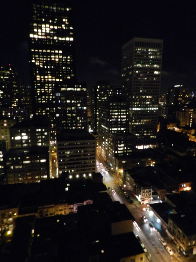 San Francisco at Night, a view from the Hilton Chinatown