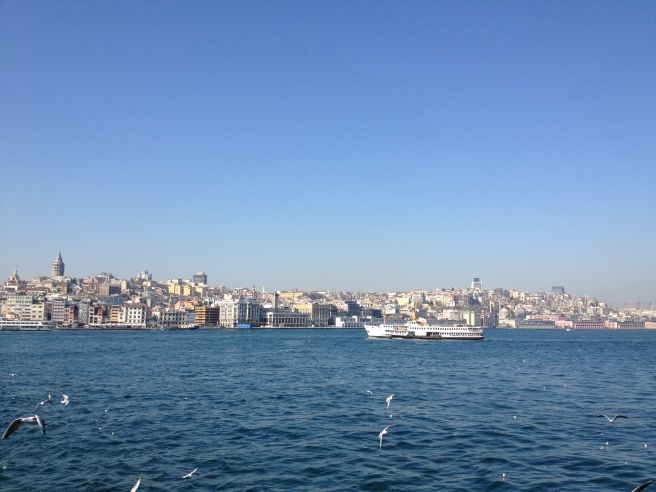 View of Taksim from the Ferry