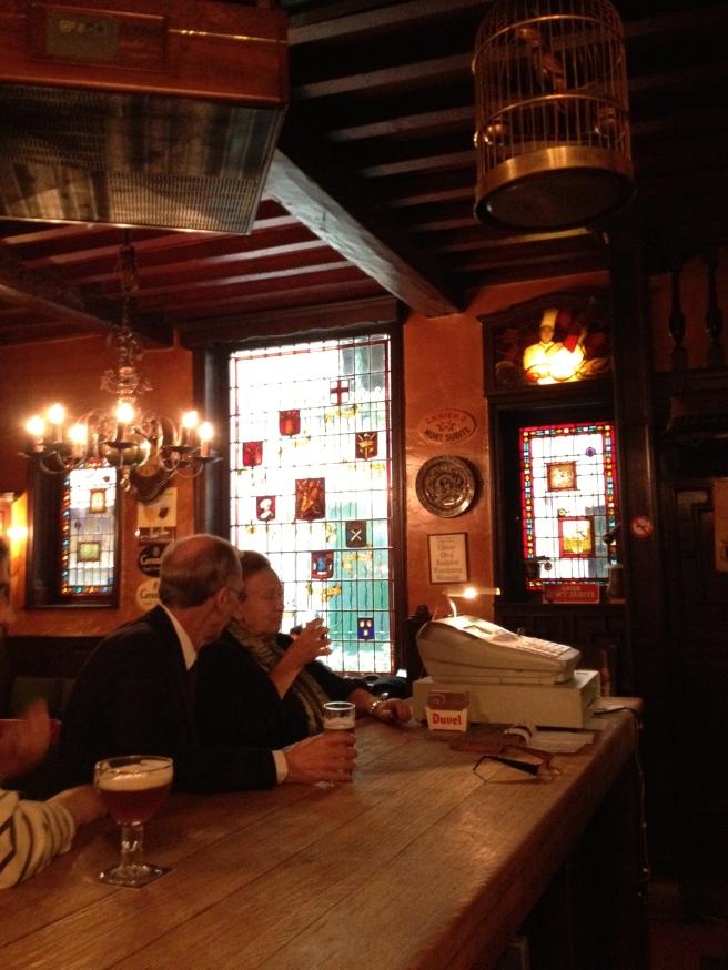 Inside the Harry Potter Bar aka Au Bon Vieux Temps
