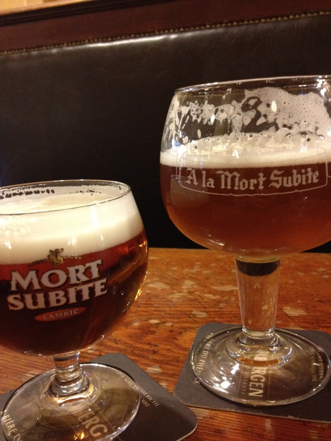 Gueze and Peach Lambic
