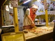 The Beginning of the Christmas Markets in Budapest. They served this amazing Hungarian pizza there and they had sour cream on the side for it! They don't have sour cream in Italy so this was a big thing for me!