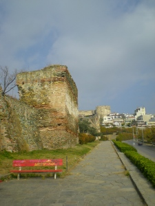 The Old Byzantine Walls in Thessaloniki