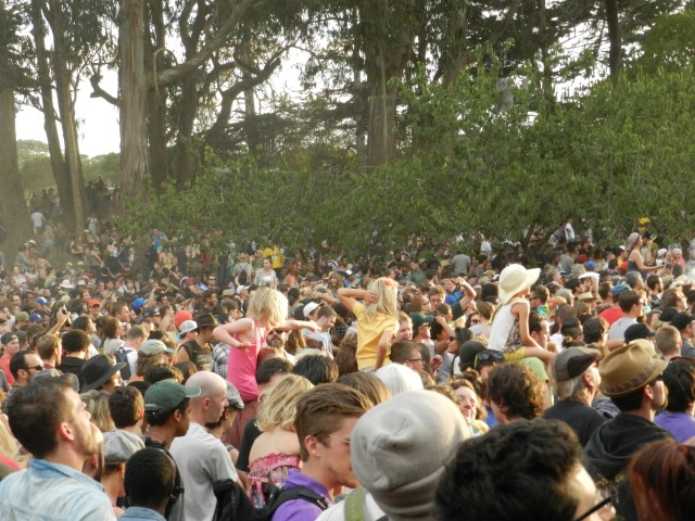 The Huge Crowds at Gogol Bordello, got to love the three little girls dancing along to the Gypsy Punk