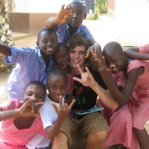 Kids from the school of deaf, they were so welcoming!