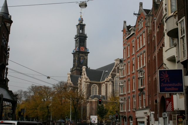 Westerkerk Clock Tower which Anne Frank describes being able to see in her diary