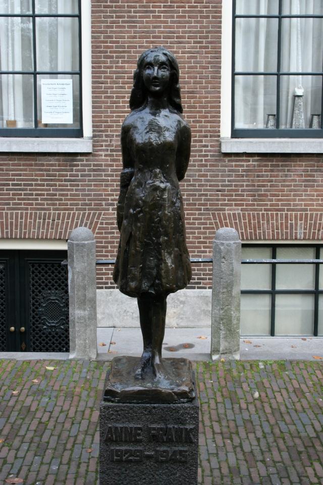 Outside Anne Frank's House