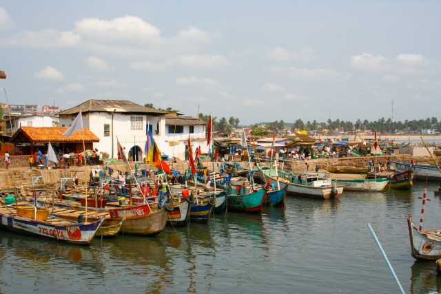 Just amazing fishing boats in Ghana