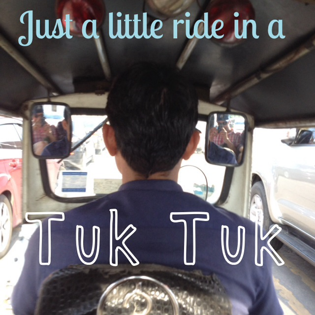 Just a little ride in a Tuk-Tuk in Bangkok