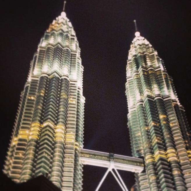 Petronas Towers in Kuala Lumpur dominate the skyline