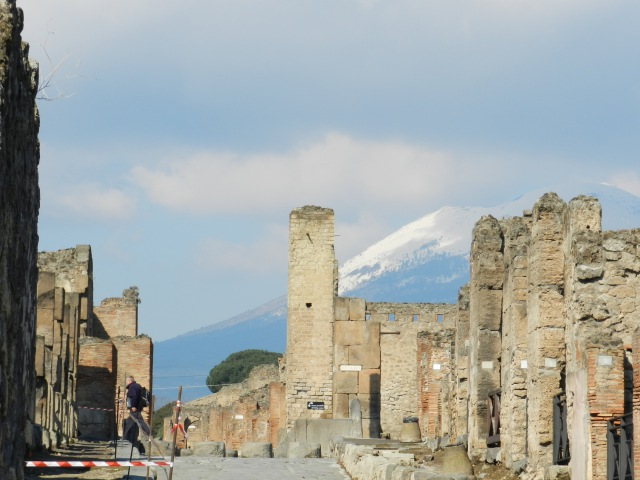 Snow covered Mount Vesuvius is safe for another year since San Gennaro's blood turned back to a liquid in September